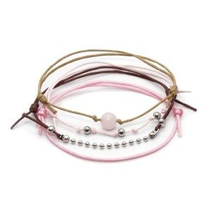Bracelet set rose quartz